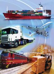 Организиране на цялостната логистика: морски транспорт, съхранение и вътрешен транспорт с ж.п. вагони, камиони или шлепове;
