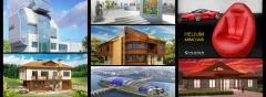 Архитектурно проектиране, Дизайн на къщи, Интериор, Мебели.