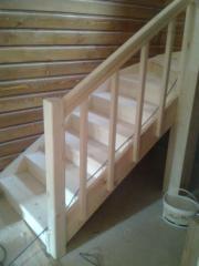 Дървени интериорни и екстериорни стълбища - проектиране, изработка, монтаж и доставка